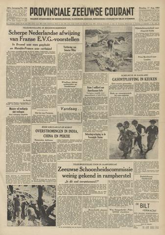 Provinciale Zeeuwse Courant 1954-08-17
