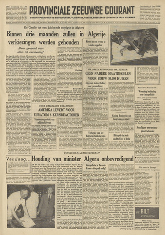 Provinciale Zeeuwse Courant 1958-06-05