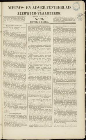 Ter Neuzensche Courant. Algemeen Nieuws- en Advertentieblad voor Zeeuwsch-Vlaanderen / Neuzensche Courant ... (idem) / (Algemeen) nieuws en advertentieblad voor Zeeuwsch-Vlaanderen 1855-07-25