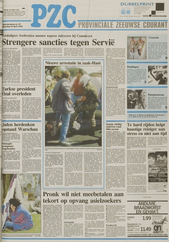 Provinciale Zeeuwse Courant 1993-04-19