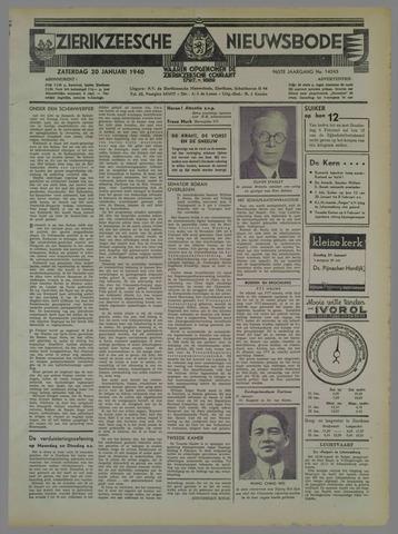Zierikzeesche Nieuwsbode 1940-01-20