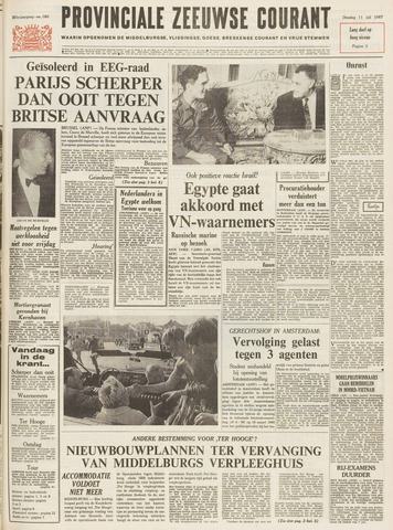 Provinciale Zeeuwse Courant 1967-07-11
