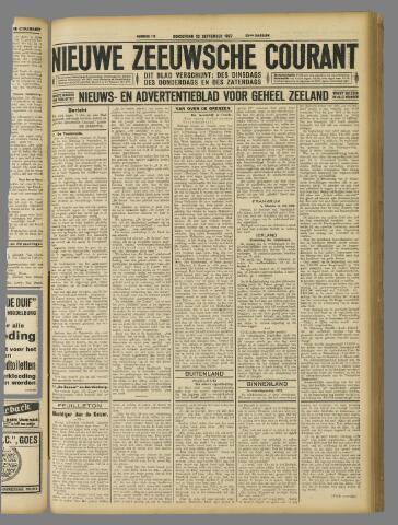 Nieuwe Zeeuwsche Courant 1927-09-22
