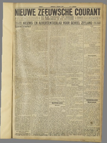 Nieuwe Zeeuwsche Courant 1926-01-05