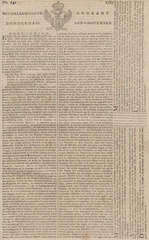 Middelburgsche Courant 1785-11-24