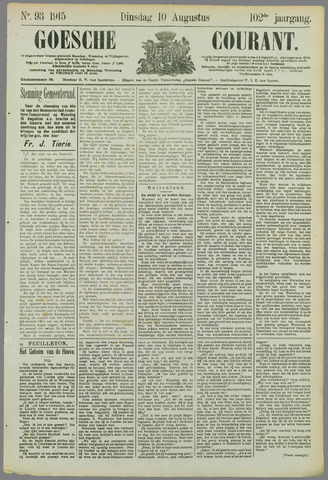 Goessche Courant 1915-08-10