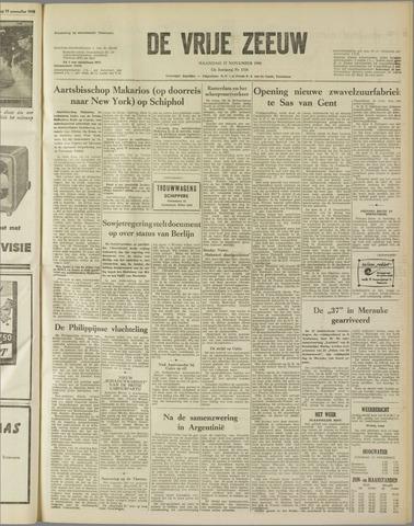 de Vrije Zeeuw 1958-11-17