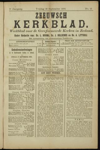 Zeeuwsche kerkbode, weekblad gewijd aan de belangen der gereformeerde kerken/ Zeeuwsch kerkblad 1903-09-25