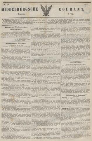 Middelburgsche Courant 1851-07-01