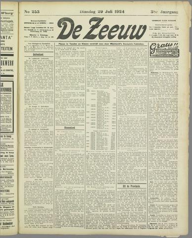 De Zeeuw. Christelijk-historisch nieuwsblad voor Zeeland 1924-07-29