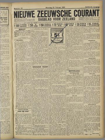 Nieuwe Zeeuwsche Courant 1922-02-20