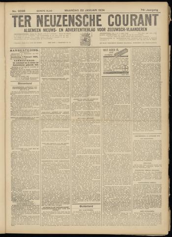 Ter Neuzensche Courant. Algemeen Nieuws- en Advertentieblad voor Zeeuwsch-Vlaanderen / Neuzensche Courant ... (idem) / (Algemeen) nieuws en advertentieblad voor Zeeuwsch-Vlaanderen 1934-01-22