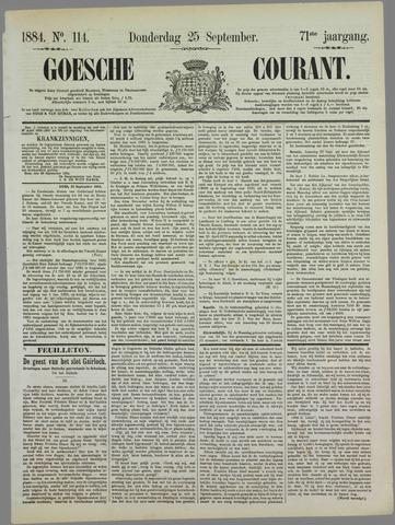 Goessche Courant 1884-09-25