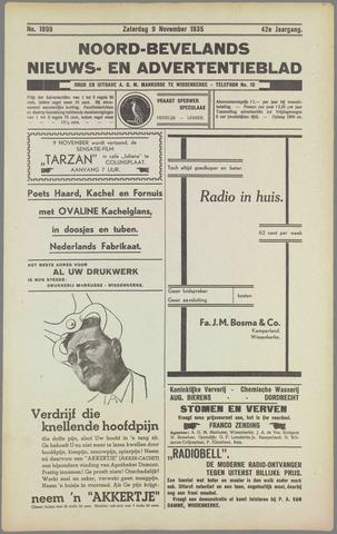 Noord-Bevelands Nieuws- en advertentieblad 1935-11-09