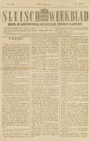 Sluisch Weekblad. Nieuws- en advertentieblad voor Westelijk Zeeuwsch-Vlaanderen 1870-10-21