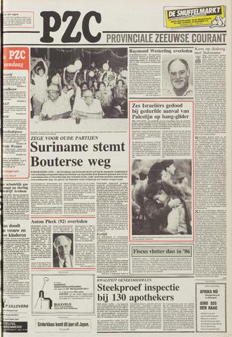 Provinciale Zeeuwse Courant 1987-11-27
