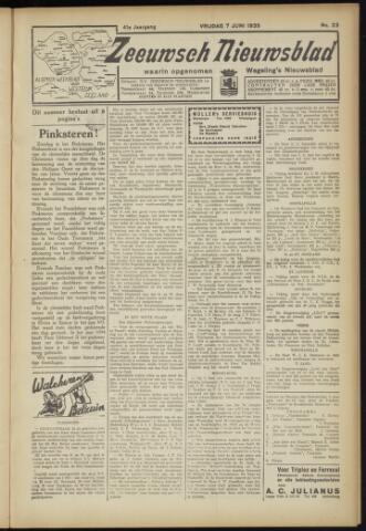 Zeeuwsch Nieuwsblad/Wegeling's Nieuwsblad 1935-06-07