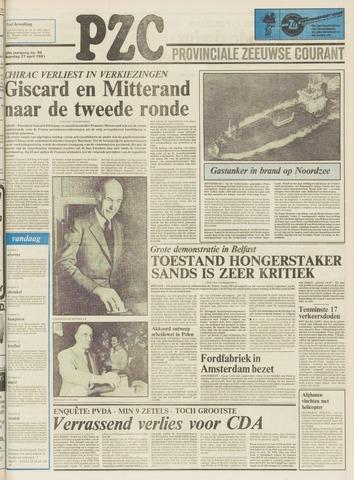 Provinciale Zeeuwse Courant 1981-04-27