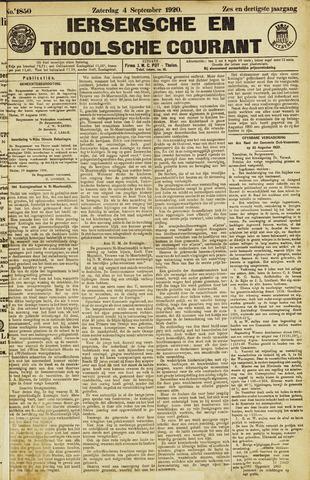 Ierseksche en Thoolsche Courant 1920-09-04