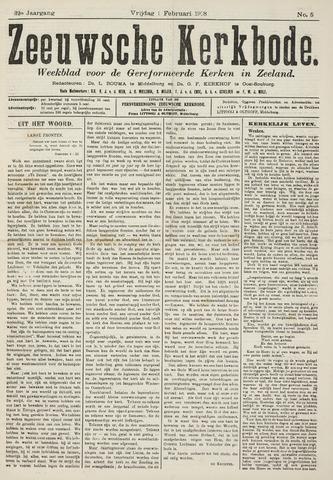 Zeeuwsche kerkbode, weekblad gewijd aan de belangen der gereformeerde kerken/ Zeeuwsch kerkblad 1918-02-01