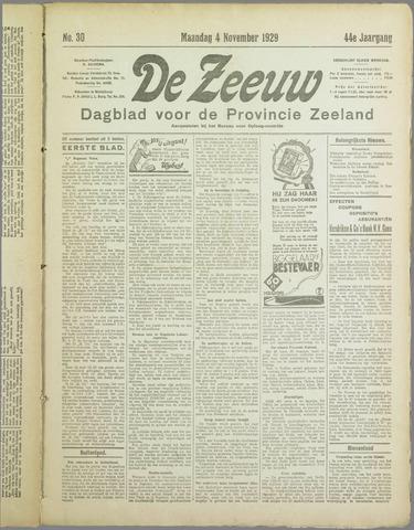 De Zeeuw. Christelijk-historisch nieuwsblad voor Zeeland 1929-11-04