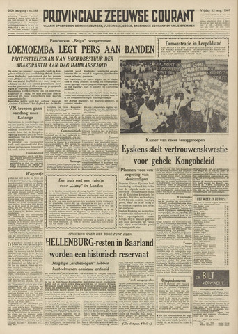 Provinciale Zeeuwse Courant 1960-08-12