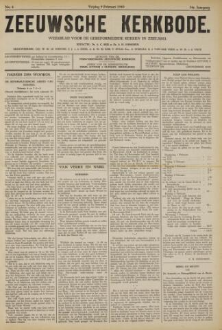 Zeeuwsche kerkbode, weekblad gewijd aan de belangen der gereformeerde kerken/ Zeeuwsch kerkblad 1940-02-09