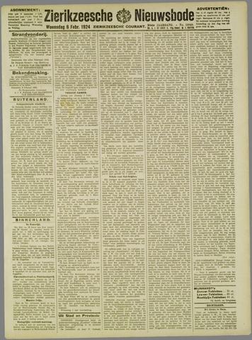 Zierikzeesche Nieuwsbode 1924-02-06