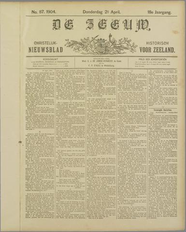 De Zeeuw. Christelijk-historisch nieuwsblad voor Zeeland 1904-04-21