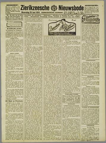 Zierikzeesche Nieuwsbode 1924-06-25