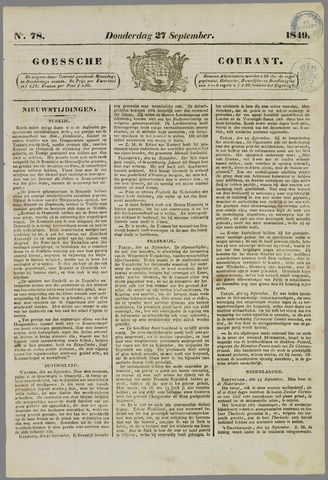 Goessche Courant 1849-09-27