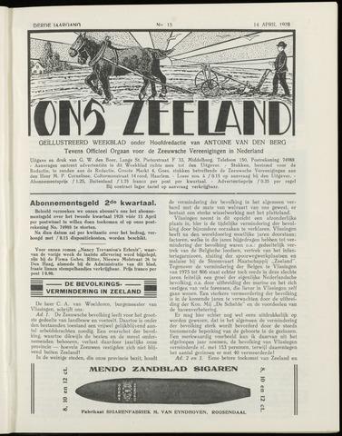 Ons Zeeland / Zeeuwsche editie 1928-04-14