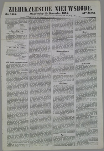 Zierikzeesche Nieuwsbode 1874-12-10