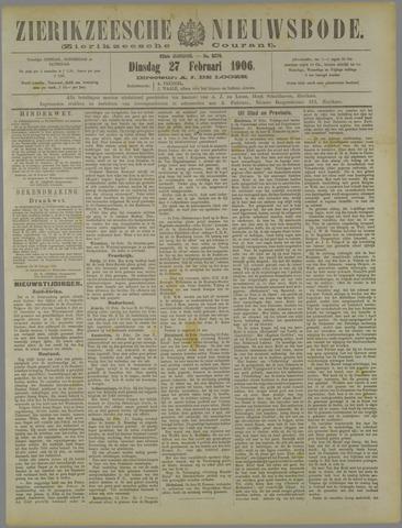 Zierikzeesche Nieuwsbode 1906-02-27