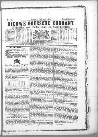 Nieuwe Goessche Courant 1874-02-27