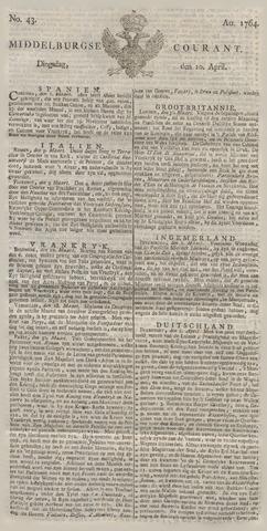 Middelburgsche Courant 1764-04-10