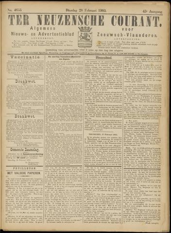 Ter Neuzensche Courant. Algemeen Nieuws- en Advertentieblad voor Zeeuwsch-Vlaanderen / Neuzensche Courant ... (idem) / (Algemeen) nieuws en advertentieblad voor Zeeuwsch-Vlaanderen 1905-02-28