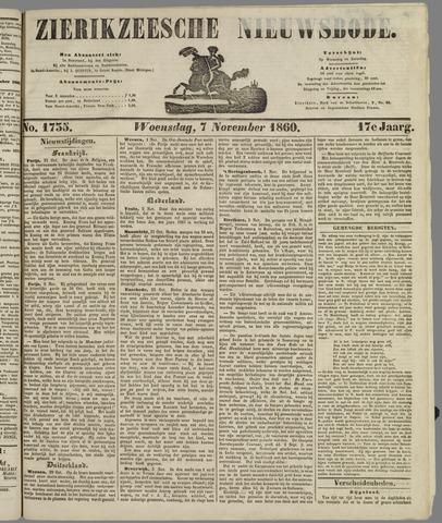 Zierikzeesche Nieuwsbode 1860-11-07