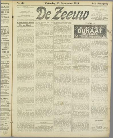 De Zeeuw. Christelijk-historisch nieuwsblad voor Zeeland 1919-12-13