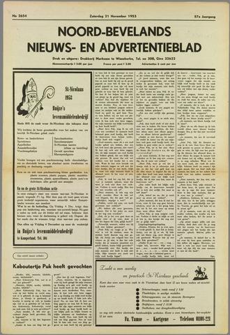 Noord-Bevelands Nieuws- en advertentieblad 1953-11-21