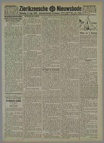 Zierikzeesche Nieuwsbode 1933-08-14