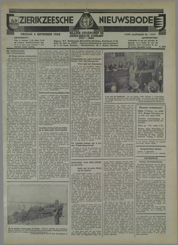 Zierikzeesche Nieuwsbode 1942-09-04