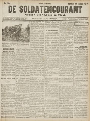 De Soldatencourant. Orgaan voor Leger en Vloot 1917-01-28