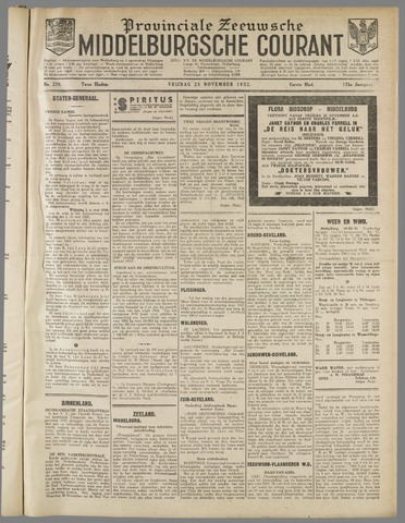 Middelburgsche Courant 1932-11-25