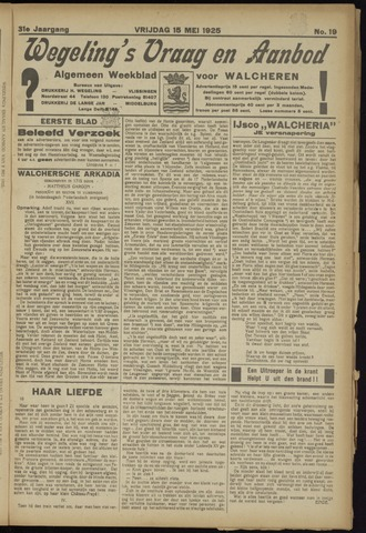 Zeeuwsch Nieuwsblad/Wegeling's Nieuwsblad 1925-05-15