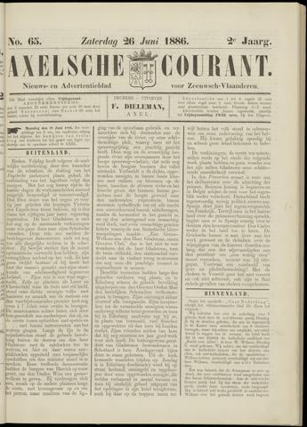 Axelsche Courant 1886-06-26