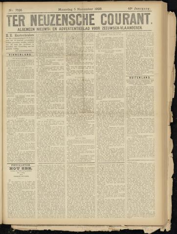 Ter Neuzensche Courant. Algemeen Nieuws- en Advertentieblad voor Zeeuwsch-Vlaanderen / Neuzensche Courant ... (idem) / (Algemeen) nieuws en advertentieblad voor Zeeuwsch-Vlaanderen 1923-11-05