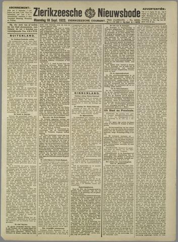Zierikzeesche Nieuwsbode 1922-09-18