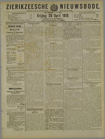 Zierikzeesche Nieuwsbode 1916-04-28