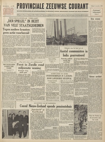 Provinciale Zeeuwse Courant 1962-11-09
